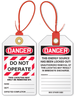 Do Not Operate Loop n Lock Tie Tag