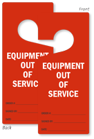 Equipment Out Of Service Lockout Door Hanger