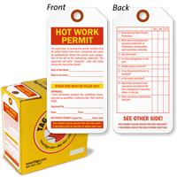 Hot Work Permit Lock Out Tag-in-a-Box