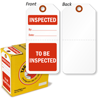 To Be Inspected / Inspected 2-Part Plastic Tag