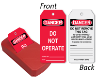 Do Not Operate Two-Sided Safety Refill QuickTags™ Dispenser