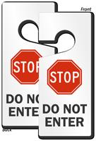 Stop Do Not Enter Lockout Door Hanger