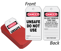 Unsafe Do Not Use Two-Sided Safety QuickTags™ Dispenser