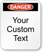 Custom Danger Padlock Label
