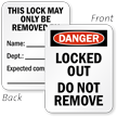 Danger Locked Out Remove By Padlock Label