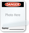 Photo Name Self-Laminating Padlock Label