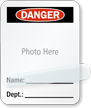 Photo Name Department Self-Laminating Padlock Label