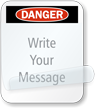 Danger Message Self-Laminating Padlock Label