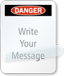 Self-Laminating Danger Message Padlock Label
