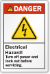 Electrical Hazard Turn Off Power Before Servicing Label
