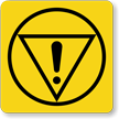 Emergency Stop Symbol Label