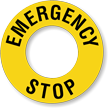 Emergency Stop Ring Label