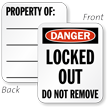 2-Sided Locked Out Property Padlock Label