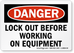 Handy lockout Label give warning just when needed.