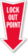 Lockout Point Arrow Safety Label