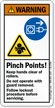 Pinch Points Follow Lockout Procedure Warning Label