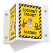 Lockout Tagout Station Projecting Sign