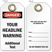 Add Headline Warning Custom OSHA Danger Tag