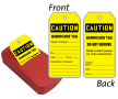 OSHA Caution Barricade Two-Sided Inspection Record QuickTags™ Dispenser