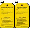 Bilingual Barricade Tape Tag