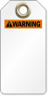 Blank ANSI Warning Tag