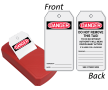 OSHA Danger Blank 2-Sided Safety Refill QuickTags™ Dispenser