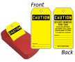 Blank OSHA Caution Two-Sided Safety Refill QuickTags™ Dispenser