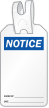 Blank Self Locking Notice Tag