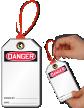 2-Sided Blank Loop n Lock Danger Tie Tag