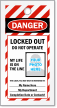 Print Own Striped OSHA Locked Out Photo Tag