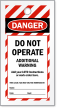 Print Own Striped OSHA Do Not Operate Tag