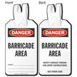 Danger Barricade Area Self-Locking Tag