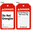 Do Not Energize Danger Tag