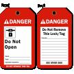 Do Not Open Danger Tag