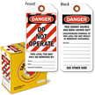 Danger Do Not Operate (100 Tag/Box) Lockout