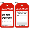 Do Not Operate Danger Tag