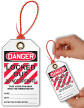 Don't Operate Zip and Lock Danger Tie Tag
