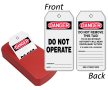 2-Sided OSHA Do Not Operate Safety QuickTags™ Dispenser