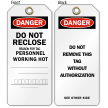 Do Not Reclose Danger Tag