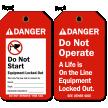 Do Not Start Equipment Tag