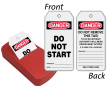 Do Not Start 2-Sided Safety Refill QuickTags™ Dispenser