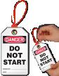 Don't Start Loop n Lock Danger Tie Tag