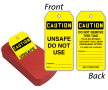 Unsafe Do Not Use OSHA 2-Sided QuickTags™ Dispenser