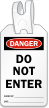 Do Not Enter Self Locking Tag