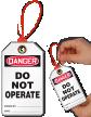 Don't Operate Loop n Lock Danger Tie Tag