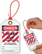 Locked Out Do Not Remove Danger Tie Tag