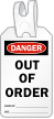 Out Of Order Danger Self Locking Tag