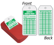 Safety Inspection Two-Sided Status Record Refill QuickTags™ Dispenser