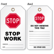 Stop Work Safety Tag