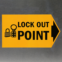 Handy lockout Labels give warning just when needed.